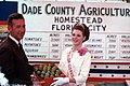 Florida Citrus Queen LaVoyce Leggett and Mayor William Dickinson With a Box of Limes at the Dade County Agricultural Fair- Homestead, Florida (5436239724).jpg