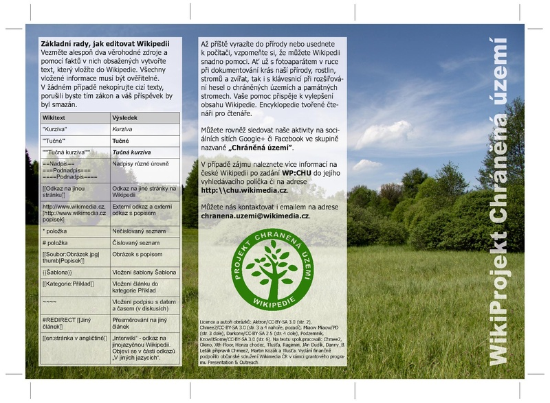 File:Flyer for Czech WikiProject Protected areas.pdf