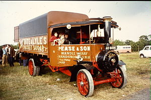 Foden steam wagon, Tate & Lyle livery, AU 6695...