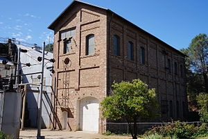Folsom Powerhouse State Historic Park - Folsom Powerhouse on the American River in July 2015