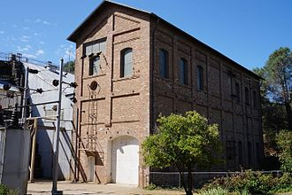 Folsom, California - Folsom Powerhouse State Historic Park along the American River.