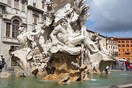 Fontana dei Quattro Fiumi Piazza Navona Rome 04 2016 6503