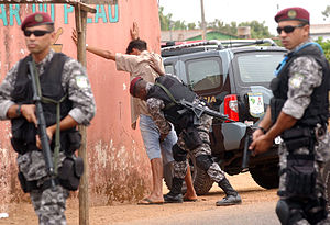National Public Security Force - Agents of the National Public Security Force active in the Distrito Federal, and Luziânia, in the state of Goiás.