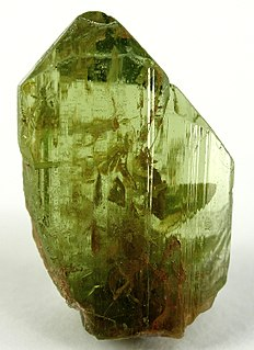 Peridot green gem-quality forsterite var., mineral