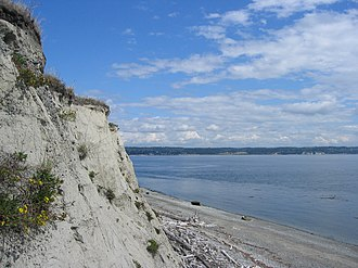 Whidbey Island - A cliff on Whidbey Island near Fort Casey