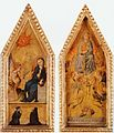 Francesco di Vannuccio. Dittico con Annuncazione e due devoti, Assunzione. ca. 1380, Cambridge, Girton College..jpg