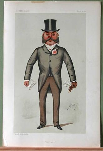 "Francis Duncan - ""Finsbury"". Caricature by Ape published in Vanity Fair in 1887."