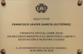 Francisco Javier García Gutiérrez (RPS 22-05-2018) placa conmemorativa 28-04-2018.png