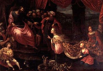 King Solomon and the Queen of Sheba.