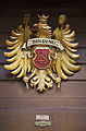 Frankfurt - Eagle crest sign on a building in Römerberg - 1036.jpg