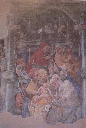 Jerg Ratgeb - Image: Frankfurt Karmeliterkloster Fresko
