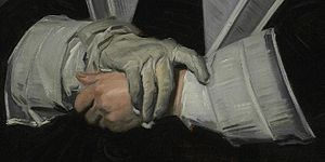 Portrait of Dorothea Berck - Detail of her hands