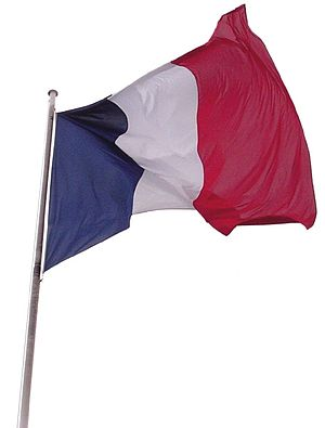 French history in the English-speaking theatre - Image: French flag