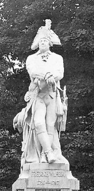 Adolf Brütt - Statue of Friedrich Wilhelm II on the Siegesallee (c. 1901). It was heavily damaged in World War II