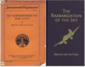 "Front Covers of ""The Barbarization of the Sky"" by Bertha von Suttner.png"