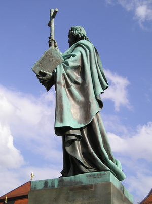 Fulda monastery - Statue of Saint Boniface (1830) at Fulda, Germany