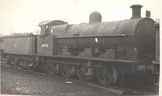 Crewe Works - Bowen-Cooke Class G2a 0-8-0   No. 48932, built at Crewe in 1902 as a Webb Class B four-cylinder loco, was later rebuilt to two-cylinder status. Buxton shed August 1960.