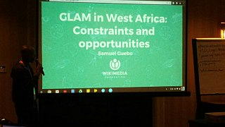 GLAM in West Africa lightning talk at Wikimania 2017 07.jpg