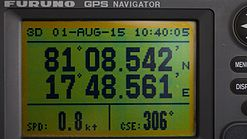 GPS display of a position at the arctic pack ice 2015.jpg