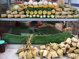 Gado-gado - Gado-gado stall displaying ingredients of the dish.