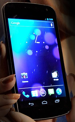 Hacking of consumer electronics - Image: Galaxy Nexus smartphone