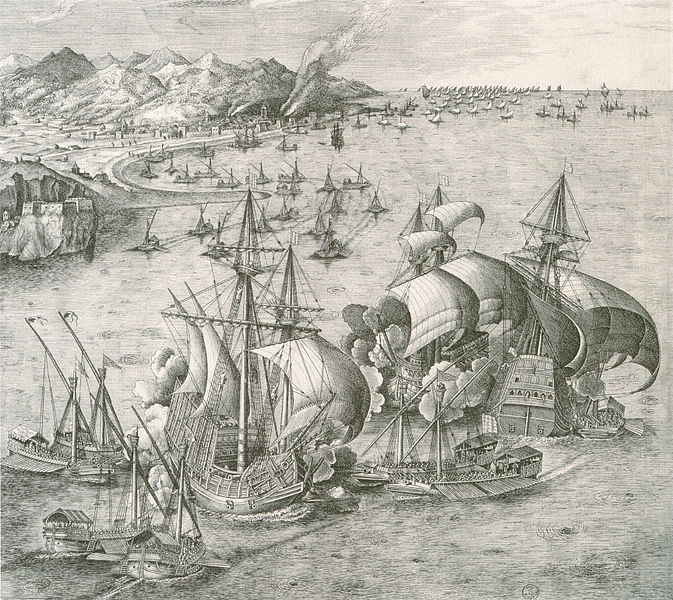 File:Galleys and carracks in battle.jpg