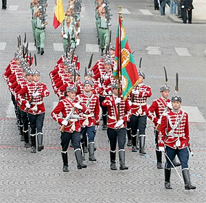Dress uniform - The National Guards Unit of Bulgaria on Parade in Paris, France