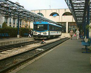Chemins de Fer de Provence - A Chemins de Fer de Provence train at Gare de Nice CP.