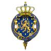 Garter-encircled Royal Arms of Willem-Alexander, King of the Netherlands.png