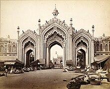 Gateway to Hooseinabad Bazaar, Lucknow, India