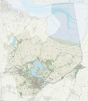 Oldambt (municipality) - Topography of Oldambt in 2015