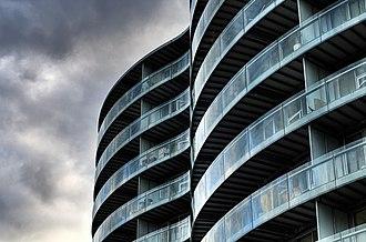Gemini Residence - Image: Gemini Residence facade detail