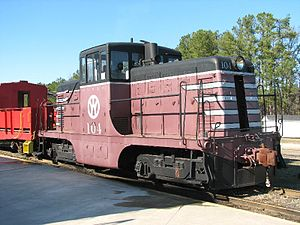 New York, Ontario and Western Railway - New York, Ontario and Western Railway 104, a General Electric 44-ton switcher preserved at the Southeastern Railway Museum, Duluth, Georgia