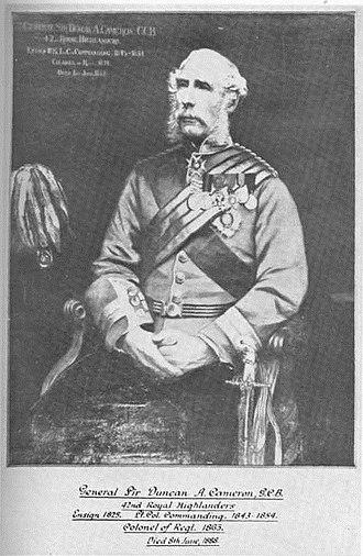 Duncan Cameron (British Army officer) - General Sir Duncan Cameron