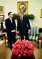 George Bush with Alvaro Uribe, March 2004.jpg
