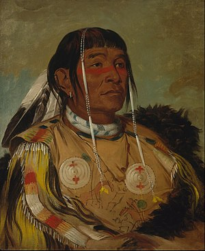 George Catlin - Sha-có-pay, a Plains Ojibwe chief. Painted at Fort Union, 1832