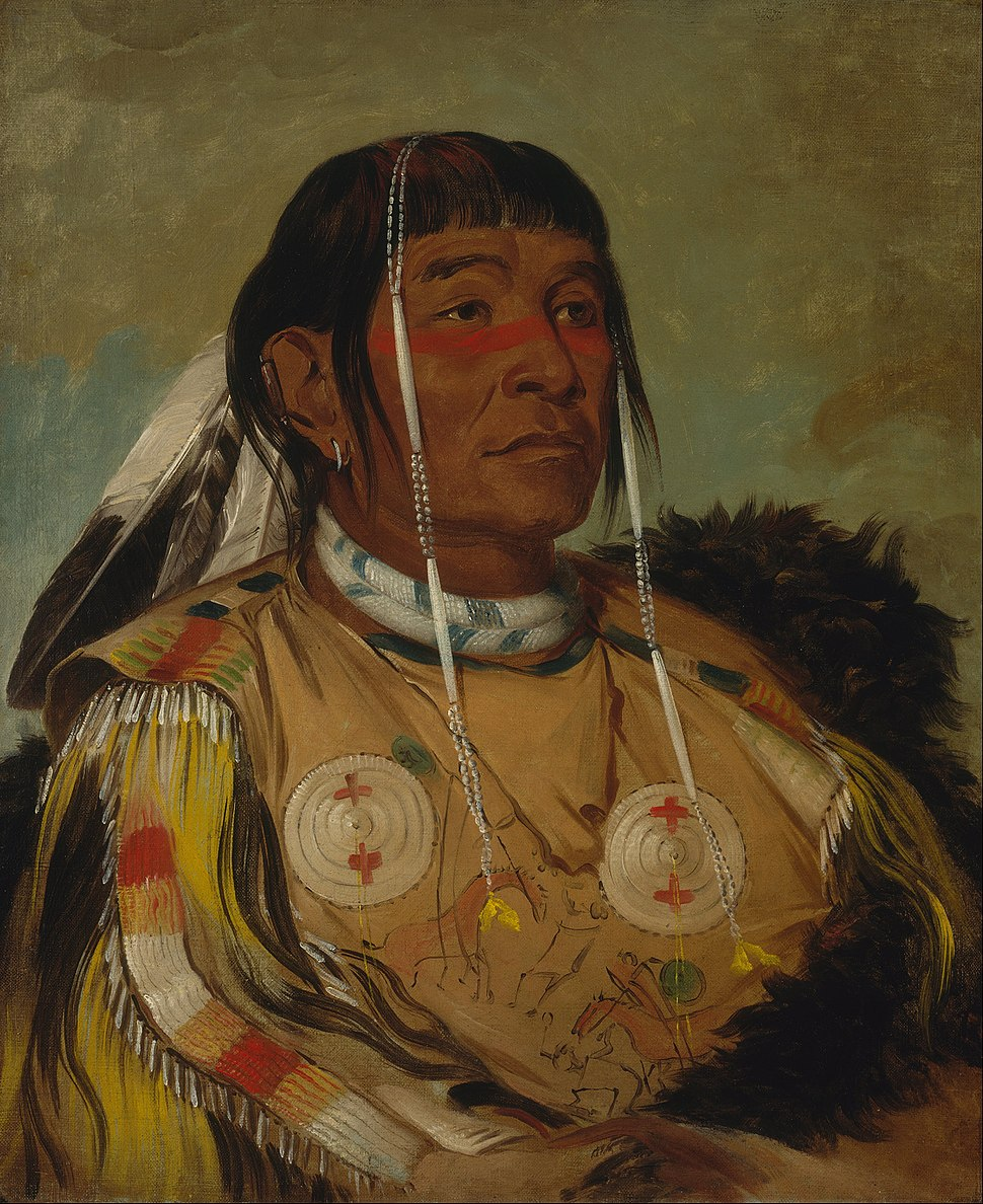 George Catlin - Sha-có-pay, The Six, Chief of the Plains Ojibwa - Google Art Project