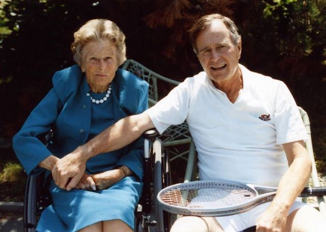 From commons.wikimedia.org: George H W Bush and Dorothy Walker Bush {MID-332560}