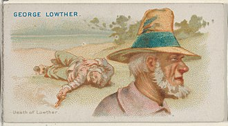 George Lowther (pirate) - Image: George Lowther, Death of Lowther, from the Pirates of the Spanish Main series (N19) for Allen & Ginter Cigarettes MET DP835021