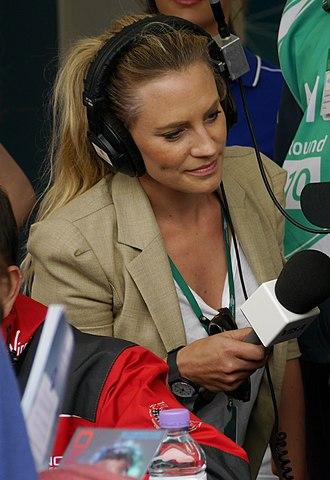 Georgie Thompson - Georgie Thompson interviewing at the 2015 London ePrix