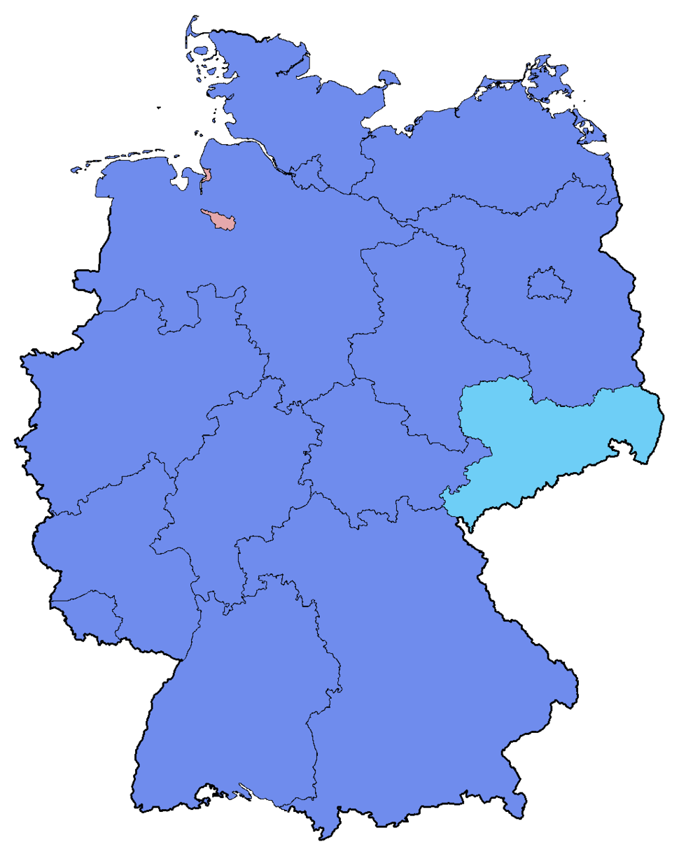 German Federal Election - Party list vote results by state - 2017