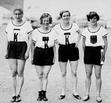 German women 4x100m team 1928 Olympics.jpg