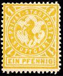 Germany Stuttgart 1886 local stamp - 1 unused.jpg
