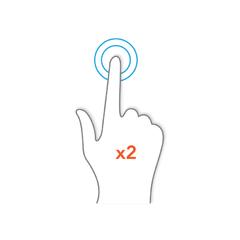 Double tap gesture