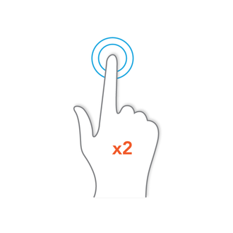 Pointing device gesture - Image: Gestures Double Tap
