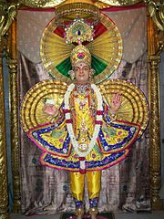 Ghanshyam Maharaj at the NarNarayan Dev Gadi headquarters
