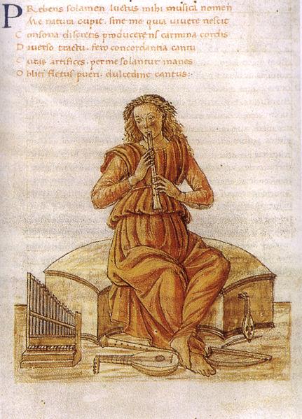 File:Gherardo di giovannid el fora, musica, in marziano capella de nuptiis philologiae et mercurii, ms. urb lat 329 f 149v bibl ap vat.jpg