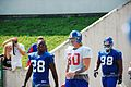 Gibril Wilson, Jeremy Shockey, and Fred Robbins at 2007 Giants training camp.jpg
