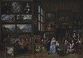 Gillis van Tilborgh - Et billedgalleri med en kunstner, der maler en kvinde og en pige. Allegori over malerkunsten - KMSsp292 - Statens Museum for Kunst.jpg
