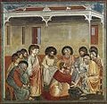Giotto di Bondone - No. 30 Scenes from the Life of Christ - 14. Washing of Feet - WGA09215.jpg